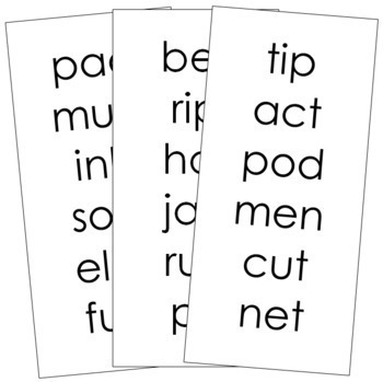 Step 1: Phonetic Word Lists