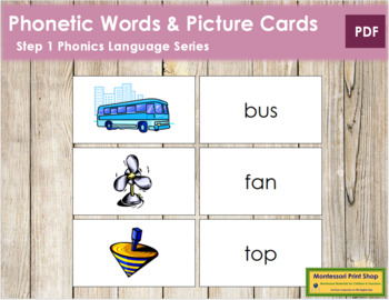 Step 1: Words and Picture Cards