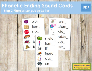 Step 2: Phonetic Ending Sound Cards