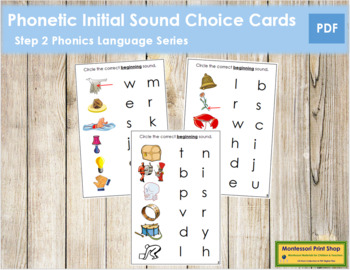 Step 2: Phonetic Initial Sound Choice Cards