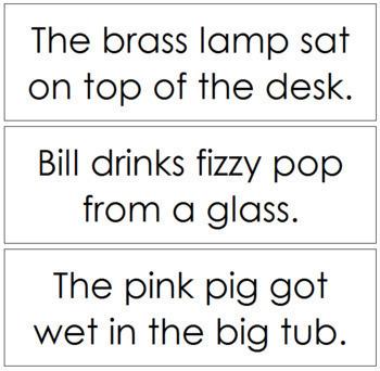 Step 2: Phonetic Sentence Cards - Set 1