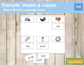 Step 2: Phonetic Sheets & Labels (real pictures)