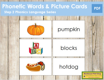 Step 2: Phonetic Words and Picture Cards