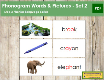 Step 3: Phonogram Words and Picture Cards (Set 2) - Real Pictures