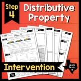 Step 4 ✩ Distribute to Simplify ✩ Texas Algebra Interventi