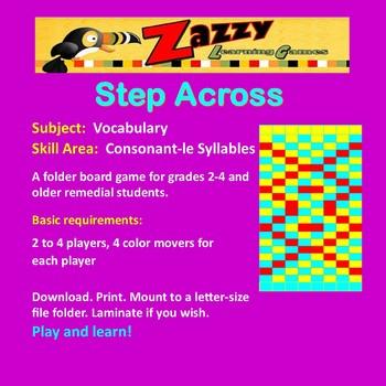Step Across Folder Game Vocabulary Consonant-le Syllables