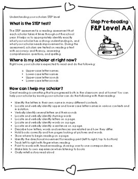 Step Assessment Pre-Reading