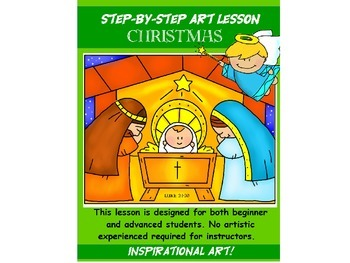 Step-By-Step Art Lesson   Christmas