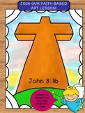 Step-By-Step Art Lesson – Inspired by John 3:16