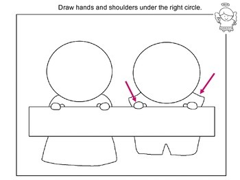 Directed Drawing. Step-By-Step Art Lesson – Thanksgiving Scene
