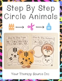 Step By Step Circle Animals - Scissor Skills