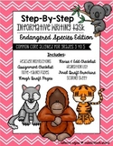 Step-By-Step Informative Writing Tasks {Endangered Species Edition}