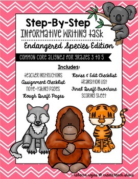 Step-By-Step Informative Writing Tasks {Endangered Species