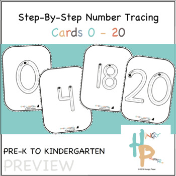 Step-By-Step Number Tracing Cards 0-20