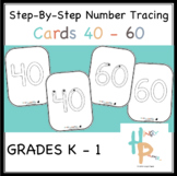 Step-By-Step Number Tracing Cards 40-60