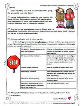 Step-By-Step Reading Group Guides for Volunteers & Tutors Gr. 2-6