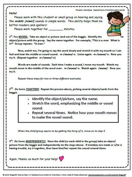 Step-By-Step Reading Group Guides for Volunteers & Tutors CCSS Aligned K-1