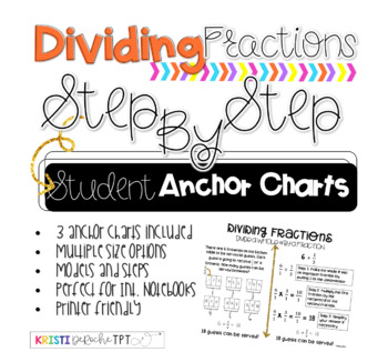 Step By Step- Student Anchor Charts- Dividing Fractions