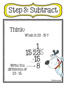 Step-By-Step Two-Digit Divisor Long Division Classroom Posters