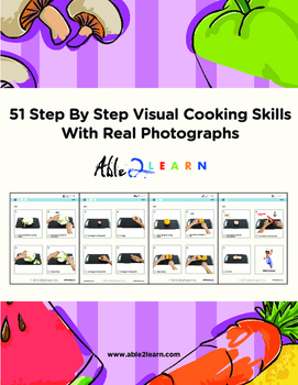 51 Step By Step Visual Cooking Skills With Real Photographs / Autism Special Ed