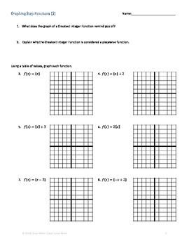 greatest integer function worksheet worksheets releaseboard free printable worksheets and. Black Bedroom Furniture Sets. Home Design Ideas
