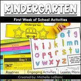 First Week of Kindergarten Activities
