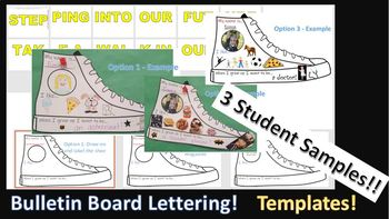 """Step Into My Shoes - """"Express Yourself"""" Activity - All About Me - Bulletin Board"""