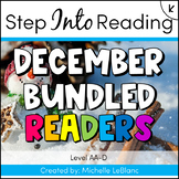 Step Into Reading December Leveled Readers AA-D