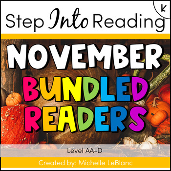 Step Into Reading November Leveled Readers AA-D