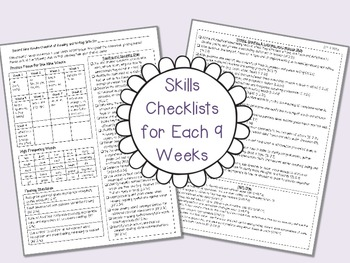 Step Into Second Grade! EDITABLE Common Core Checklists, Goal Sheets & More!