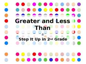 Step It Up in Second: Greater Than and Less Than Fluency Practice