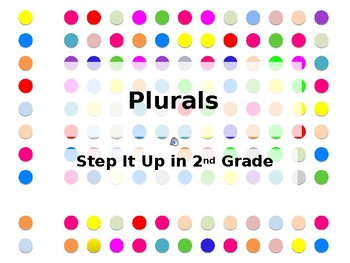 Step It Up in Second: Plurals Fluency Practice