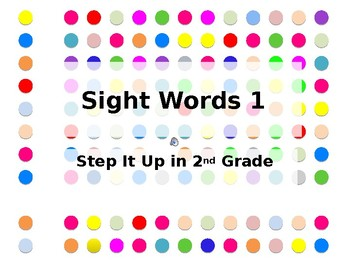 Step It Up in Second: Sight Words 1 Fluency Practice