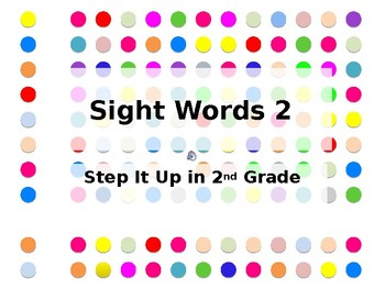 Step It Up in Second: Sight Words 2 Fluency Practice