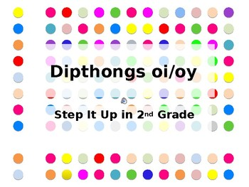 Step It Up in Second: oi/oy Dipthongs Fluency Practice