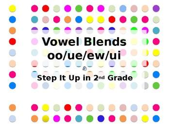 Step It Up in Second: oo/ue/ew/ui Vowel Blends Fluency Practice