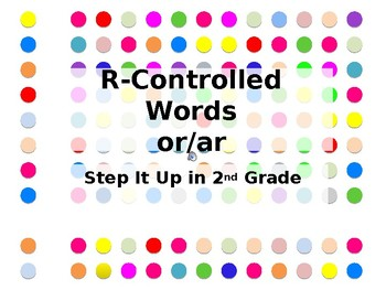 Step It Up in Second: or/ar Vowel Blends Fluency Practice