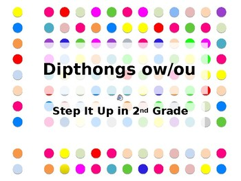 Step It Up in Second: ou/ow Dipthongs Fluency Practice