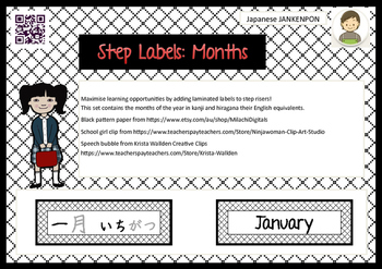 Step Labels : Months : Black and White version ( Japanese)