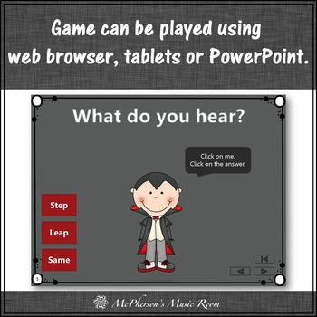 Fall Music Game ~ Step Leap Same Interactive Music Game {Dracula}