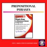 Prepositional Phrases Grammar Worksheets from Simple Steps to Sentence Sense