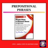 Grammar Worksheets | Prepositional Phrases Step 1 Simple S