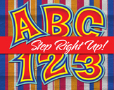 "Step Right Up!!! County Fair Alphabet - 91 - 300 DPI - PDF & PNGs - 3.75"" High"