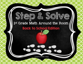 Step & Solve: Math Review Around the Room (Back to School)