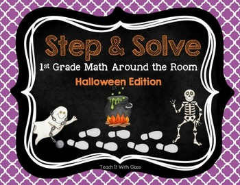 Step & Solve: Math Review Around the Room (Halloween)