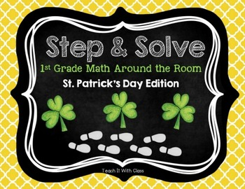 Step & Solve: Math Review Around the Room (St. Patrick's Day)
