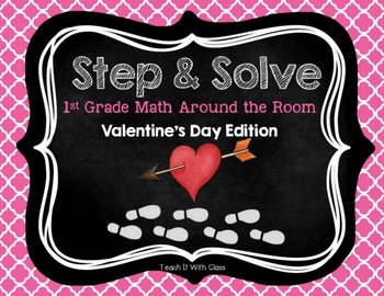 Step & Solve: Math Review Around the Room (Valentine's Day)
