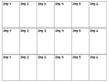 Steps 1-6 Graphic Organizer