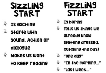 Step Two: Sizzling Starts *7 STEPS WRITING*