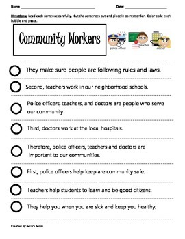 Paragraph Cut & Paste: Community Workers 1